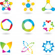Set of abstract elements. vector — Stockvectorbeeld
