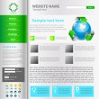 Web site design template, vector. — Stockvectorbeeld