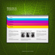 Web site design template, vector. — Vettoriali Stock