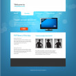 Website design template, vector. — Stock Vector #35263201