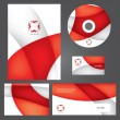 Business style templates. Vector. — Stock Vector