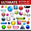 Ultimate button set for web design. — Stock Vector