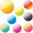 Vector. Brightly colored, glossy web stickers. — Stock Vector