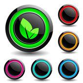 Buttons for web design. Vector. — Stock Vector