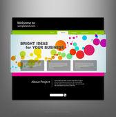 Website design template. Vector. — Stockvector