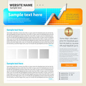 Web site design template, vector. — Stock Vector