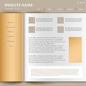 Web site design mall, vektor. — Stockvektor