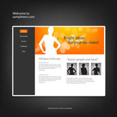 Web site design template, vector. — Vettoriale Stock