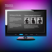 Web site design template — Vector de stock