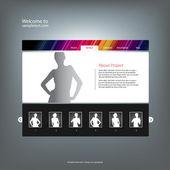 Web site design template, vector. — Wektor stockowy