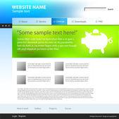 Web サイトのデザイン テンプレート、ベクトル. — ストックベクタ