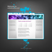 Szablon projektu witryny sieci web, wektor. — Wektor stockowy