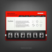 Web site design template, vector. — Stok Vektör