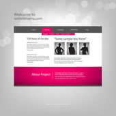 Web site design template, vector. — Vecteur
