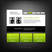 Website ontwerpsjabloon, vector. — Stockvector