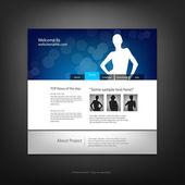 Website-design-vorlage, vektor. — Stockvektor