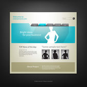 Web site design template, vector. — Vector de stock