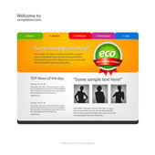 Website design template. Vector. — ストックベクタ