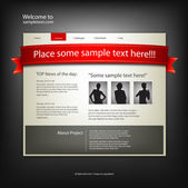 Website design template. Vector. — Vector de stock
