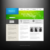 Website-design-vorlage. — Stockvektor