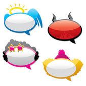 Funny stickers. Vector. — Vector de stock