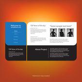 Website design template, vector. — Stock Vector