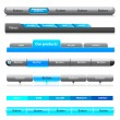 Web menu header set. Vector. — Stock Vector