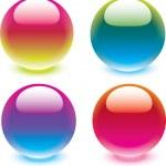 Vector glass buttons. — Stock Vector