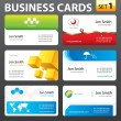 Business card design. — Stock Vector #35325725