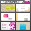 Business card design. — Stock Vector #35325801
