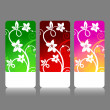 Colorful floral backgrounds. Vector. — Stock Vector