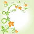 Elegant floral background. vector. — Stock Vector