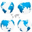 Vector globe map. Fully editable. — Vettoriali Stock