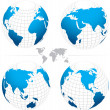 Vector globe map. Fully editable. — Vector de stock