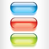 Botones brillantes — Vector de stock