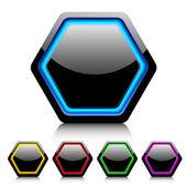 Cell buttons for web design. Vector. — Stock Vector