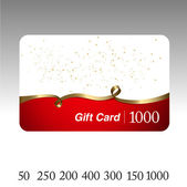 Beautiful gift card. Vector. — 图库矢量图片
