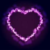 Fantasy heart background. Vector illustration — Stock Vector