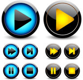 Set of buttons for web design. vector — Stock Vector