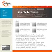 Web site design template, vector. — Stock Vector