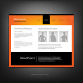 Modelo de design do site — Vetorial Stock