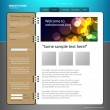 Web site design template. — Stock Vector