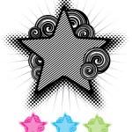 Abstract star design. vector — Stock Vector