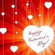 Beautiful valentine card. — Vector de stock