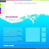 Modelo de design de web site — Vetor de Stock