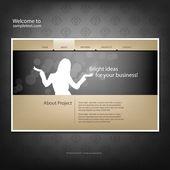 Modelo de design de web site — Vetorial Stock