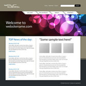 Web site design template — Stok Vektör