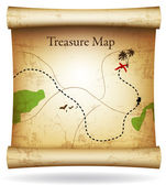 Treasure map. Vector. — Stock Vector