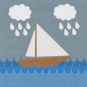 在缝式海上船上织物背景 — 图库照片