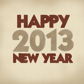 Happy new year 2013 with stitch style on leather — Stock Photo